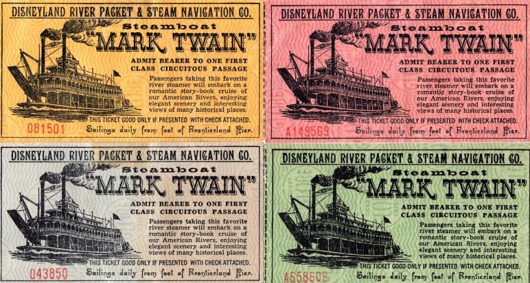 マークトウェイン号のチケット