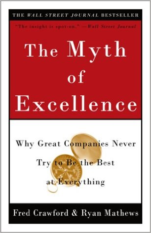 The Myth of Excellence paperback