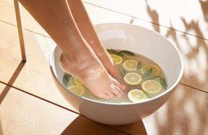 レモンの足湯