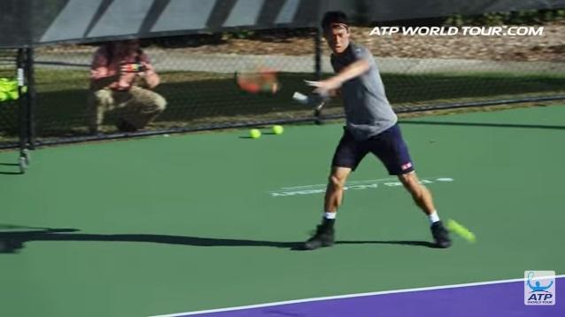テニス選手のオフトレーニング 錦織圭選手の場合 ストローク練習