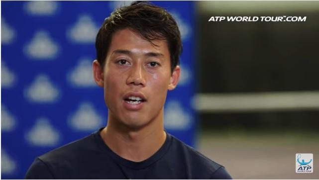 テニス選手のオフトレーニング 錦織圭選手の場合 インタビューに答える錦織圭