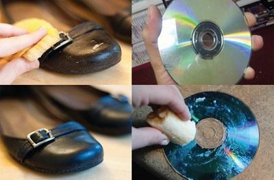 靴磨きやCD磨き