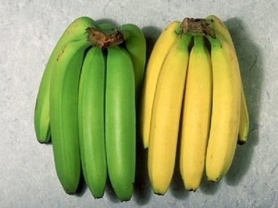 緑と黄色のバナナ