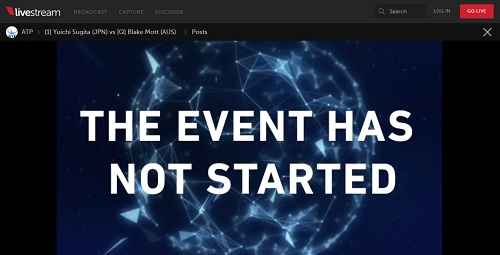 the event has not started