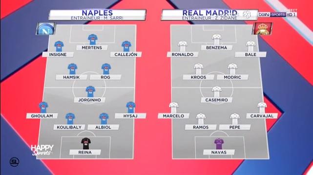 欧州cl 2ndレグ ナポリ vs レアル・マドリード