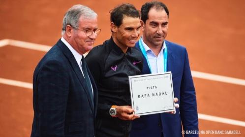 バルセロナオープン のセンターコートがPista Rafa Nadalに
