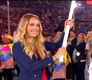 リオ五輪で旗手を務める キャロライン・ウォズニアッキ