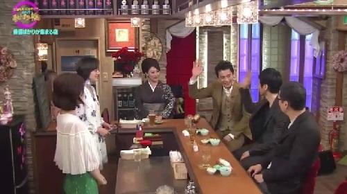 4月12日 天海祐希・石田ゆり子のスナックあけぼの橋 手を挙げる西島秀俊