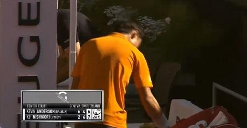ジュネーブ・オープン準々決勝 錦織圭の大会2戦目になる K・アンダーソン vs 錦織圭戦 試合結果。ファイナルセットはタイブレークの末、錦織圭の勝利