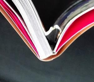 宝島社 鳥海浩輔・安元洋貴の禁断生ラジオ本1.5 本の乱丁部分を地部から見ると 複数ページがまとめて折れた状態