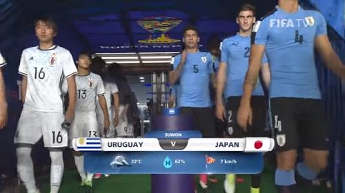 FIFA U-20 ワールドカップ 韓国大会2017 5月24日(水) グループD ウルグアイ vs 日本戦 試合結果、ゴールシーン