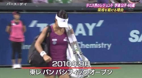 TBS「バース・デイ」伊達公子の戦いの記録 2010年9月東レパンパシフィックオープン