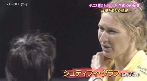 TBS「バース・デイ」伊達公子の戦いの記録 エキシビションマッチのシュティフィ・グラフ