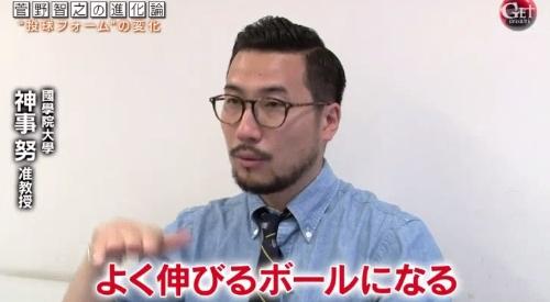 テレビ朝日「Get Sports(ゲットスポーツ)」 6月4日放送 巨人・菅野智之の進化 縦の動きだと縦回転が強調され、よく伸びるボールに