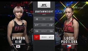 UFCファイトナイト111 シンガポール大会 キム・ジヨン vs ルーシー・プディロヴァ