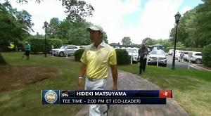 第99回 全米プロゴルフ選手権 3日目 スタート前の松山英樹