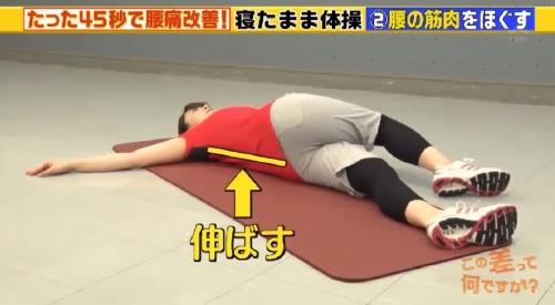 寝起きの腰痛と寝返りの回数 この差って何ですか? 背中と腰を伸ばす