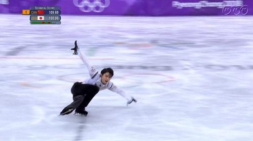 平昌オリンピック 羽生結弦 フリー ハイドロブレーディング