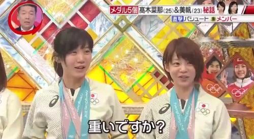 平昌オリンピック 高木菜那、高木美帆 メダル5つは重い