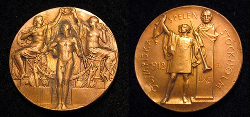 1912年ストックホルムオリンピックの金メダル