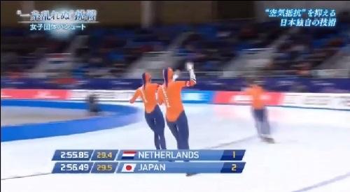 2017年2月の前哨戦 日本女子団体パシュート NHK 勝ったのはオランダ