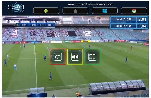 AFCチャンピオンズリーグの視聴方法 Sportstreamの操作パネル