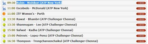 Batmanstream.comの使い方 錦織圭出場のニューヨーク・オープン