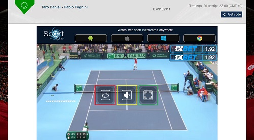 Sport streamの使い方 視聴画面の操作方法