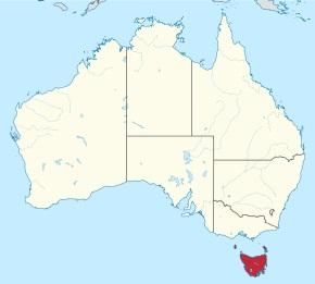オーストラリア大陸の南部 タスマニア島