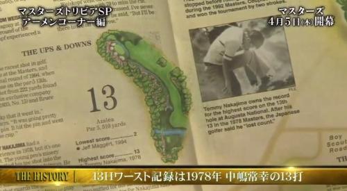 マスターズ アーメンコーナー 13番ホールのワースト記録13打 中島常幸