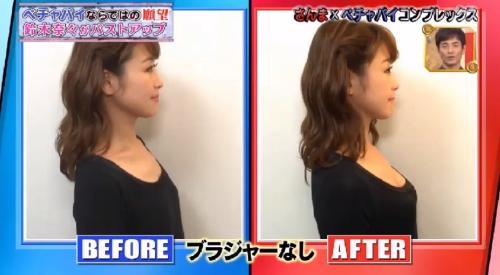 鈴木奈々 バストアップ画像 ビフォーアフター02
