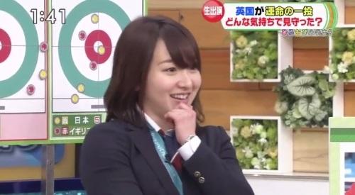 2月27日ひるおび! カーリング女子 藤澤五月の感心したようなリアクション