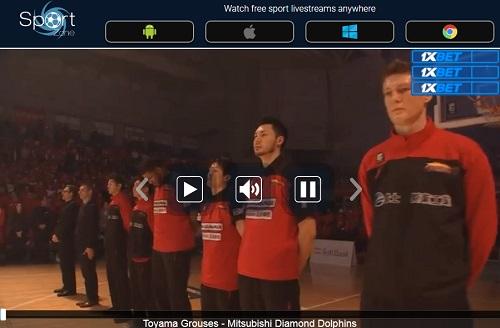Bリーグのストリーミング視聴方法 Sportstream ライブ放送の視聴ボタン