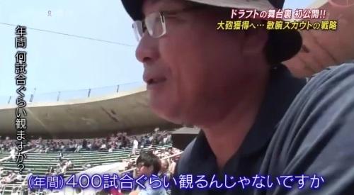 TBS バース・デイ 楽天イーグルス 球団スカウト 後関スカウト 年間400試合