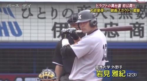 TBS バース・デイ 楽天イーグルス 球団スカウト 慶應大学4番岩見雅紀