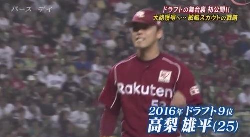 TBS バース・デイ 楽天イーグルス 高梨雄平