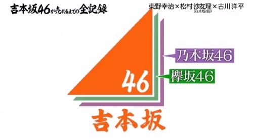 4月4日 第1回 吉本坂46が売れるまでの全記録 紫が乃木坂46、緑が欅坂46、その上に吉本坂