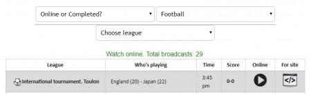 U-21日本代表出場 トゥーロン国際大会の全試合をネットのライブストリーミング放送で完全無料で視聴するには mylive