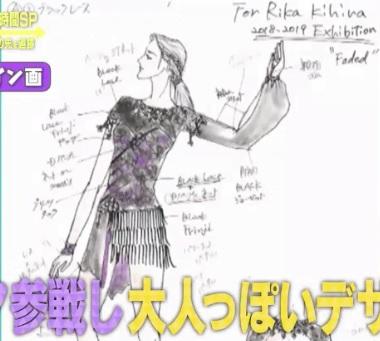 紀平梨花の2018-2019 エキシビション Faded用 デザイン画