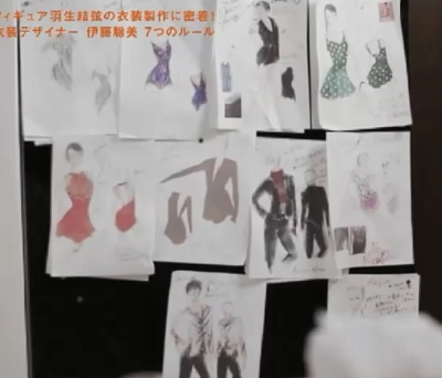 セブンルール フィギュアスケート衣装デザイナー 伊藤聡美 デザインスケッチ