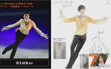 セブンルール フィギュアスケート衣装デザイナー 伊藤聡美 羽生結弦 衣装のデザイン画