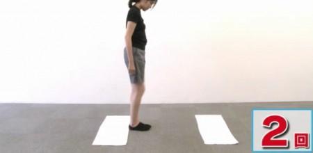 たけしの家庭の医学で紹介!しつこい腰痛の新原因は下半身のセンサーの衰え?改善方法の脳トレーニングのやり方とは?ぴったりステップ その6