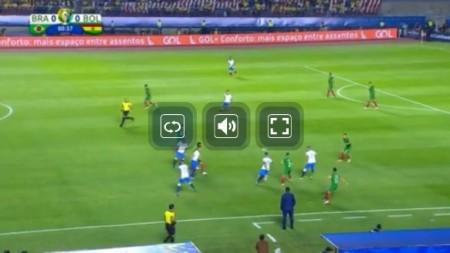 コパアメリカ全試合をネットの無料ライブストリーミング放送で視聴するには 開幕戦 ブラジル vs ボリビア戦の視聴画面 操作方法