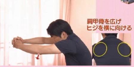 NHKあさイチの自分で治す腰痛特集!理学療法士が指導する肩甲骨の動かし方。肩甲骨を広げて肘を横に向ける
