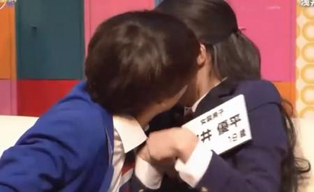 第384回「青春高校3年C組 水曜日」女子アイドル部告白選手権で小宮先生にキスされる浅井