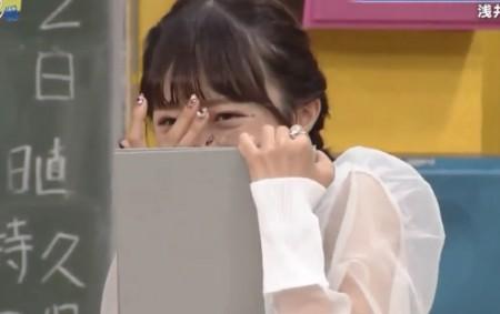 第384回「青春高校3年C組 水曜日」女子アイドル部告白選手権で小宮先生のキスに引く中井りか