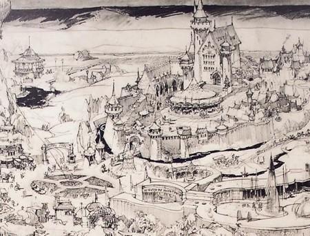 ハーバート・ライマンが描いたディズニーランドの初期デザイン・マップ