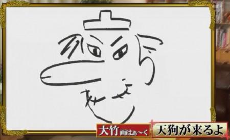 「さまぁ~ずの画はぁ~く」ってどんな番組?大竹画はぁ~くの下品な天狗の絵