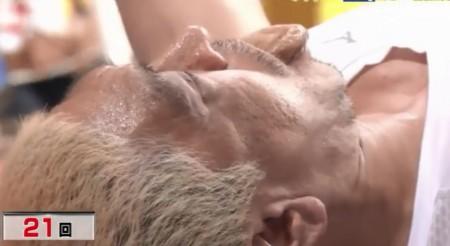 「炎の体育会TV」で披露したダウンタウン松本人志のベンチプレス 21回目成功でこの表情