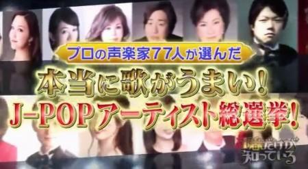 声楽家が選んだ本当に歌が上手いJ-POPアーティスト総選挙のランキングトップ10は?